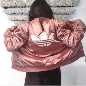 NEW Adidas Satin Bomber Jacket